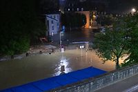 Inondation Luxembourg  14 juillet 2021 Grund, Place d'argent Pfaffental luxembourg le 14.07.2021 Photo Christophe Olinger