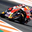 Repsol Honda's Spanish rider Marc Marquez rides during the MotoGP race of the Valencia Grand Prix at Ricardo Tormo racetrack in Cheste, near Valencia on November 12, 2017.  Spain's Marc Marquez sealed his sixth world championship and fourth in the premier MotoGP category with third place at the Valencia Grand Prix. Marquez's Honda teammate Dani Pedrosa won the race from France's Johann Zarco in second.  / AFP PHOTO / JOSE JORDAN