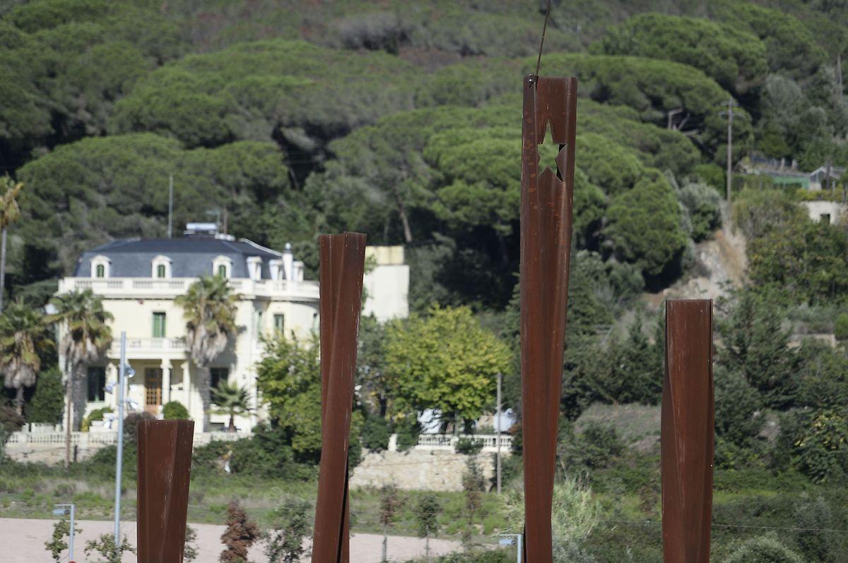 A Arenys de Munt, près de Barcelone, le monument pour l'Indépendance de la Catalogne.