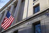 WASHINGTON, - MARCH 24: The Department of Justice is seen on March 24, 2019 in Washington, DC. Special counsel Robert Mueller has delivered his report on alleged Russian meddling in the 2016 presidential election to Attorney General William Barr.   Tasos Katopodis/Getty Images/AFP == FOR NEWSPAPERS, INTERNET, TELCOS & TELEVISION USE ONLY ==