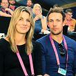 Mandy Minella und Tim Sommer unterstützten am Samstag die Luxemburgerin Eléonora Molinaro.