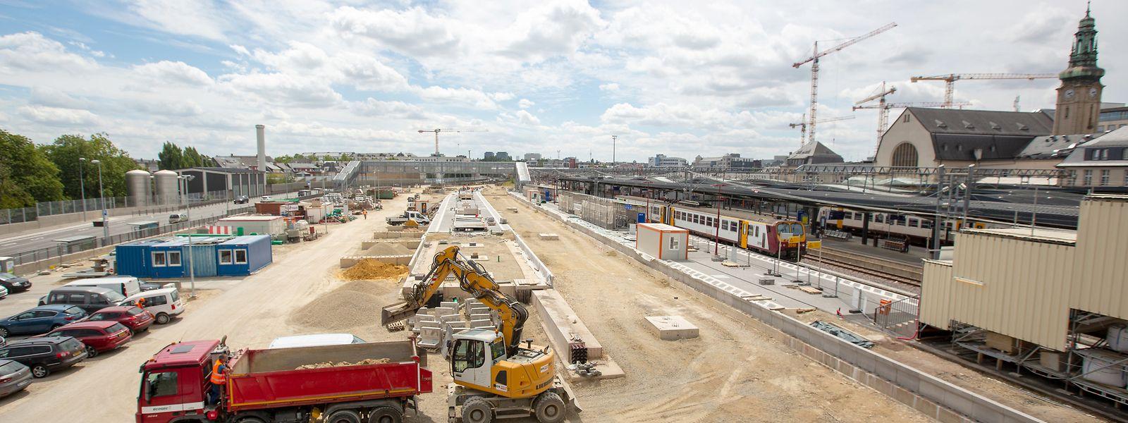 Les trois nouvelles voies de la gare de Luxembourg entreront en service en décembre 2021. L'amélioration de la situation sur les rails, elle, est attendue pour 2024.