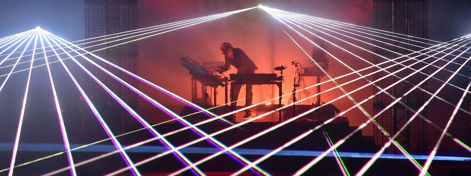 Jean-Michel Jarres Konzerte sind gigantische visuelle Shows.
