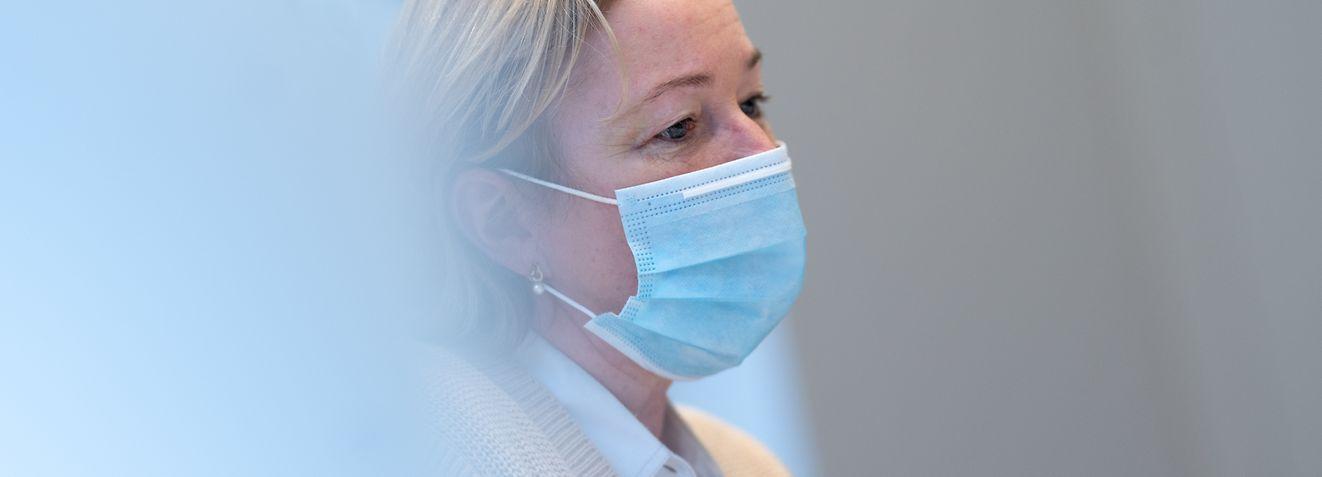 Itv Paulette Lenert Ministre de la Santé Luxembourg le 12/01/2021 photo ©Christophe Olinger