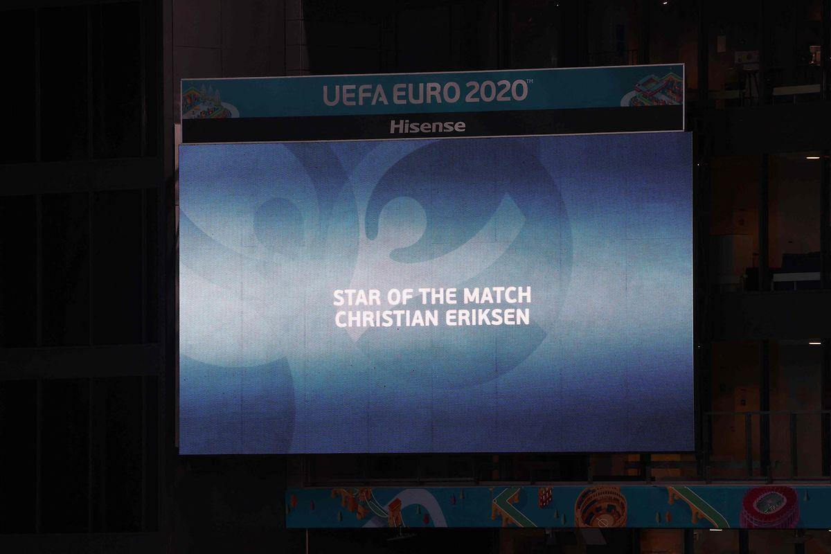 Christian Eriksen wird zum Spieler des Spiels gewählt.