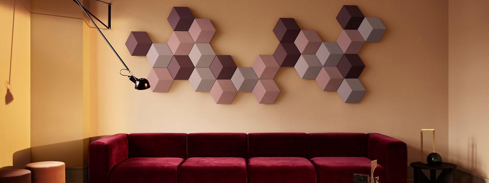 Die einzelnen Elemente lassen sich ganz individuell an der Wand anordnen.