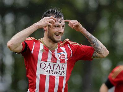 Stefano Bensi marcou o segundo golo do Fola na vitória frente ao F91 Dudelange