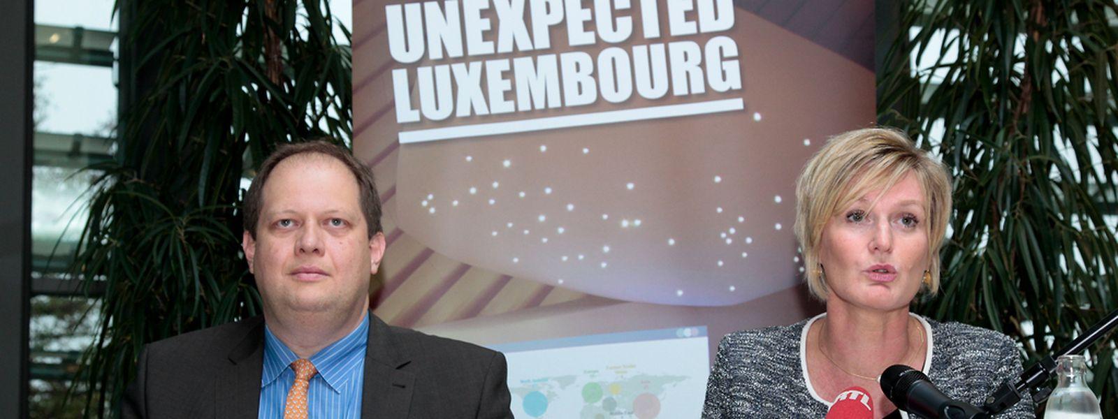 Au côté de Gilles Scholtus (Direction générale du Tourisme), la secrétaire d'Etat à l'Economie, Francine Closener, a lancé un nouveau cluster autour du tourisme d'affaires et de congrès