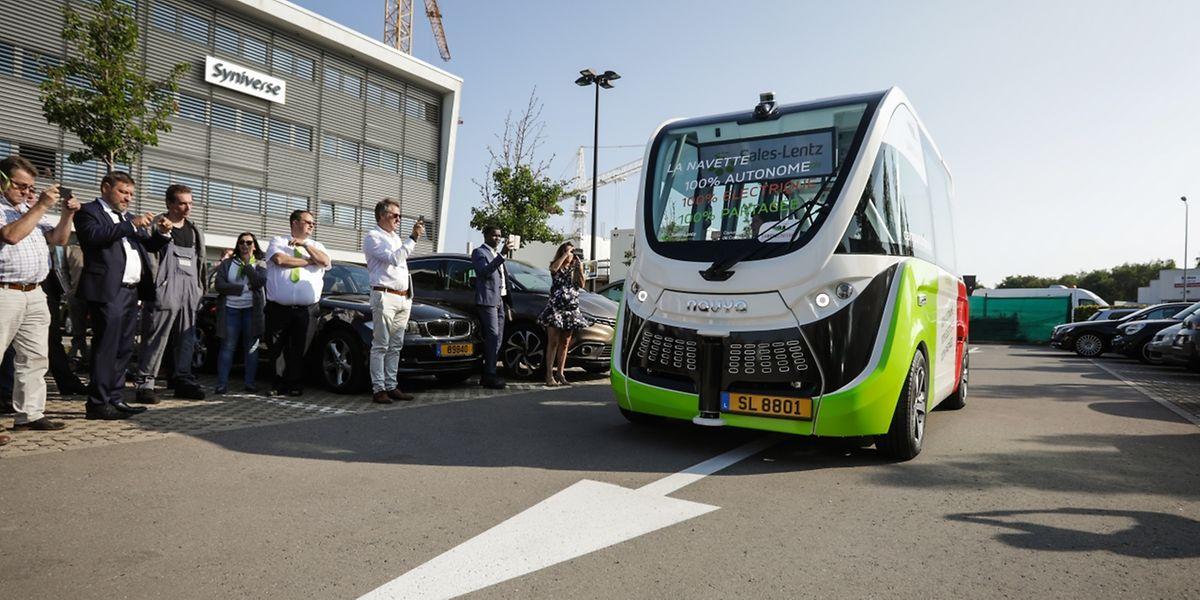 La navette autonome Navia va donc faire ses premières courses ce vendredi 21 septembre dans les rues de la zone et ce pour trois mois.