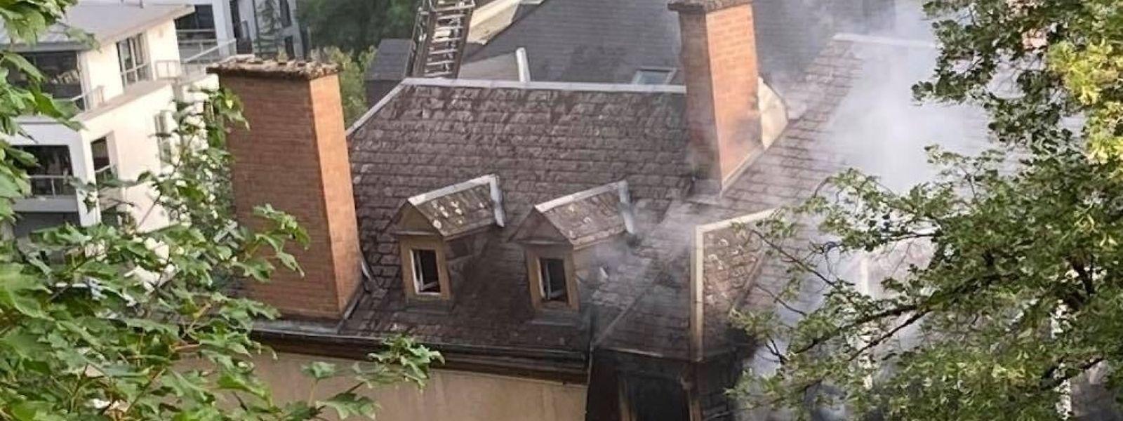 Brand in einem Dachzimmer auf dem Plateau Altmünster.
