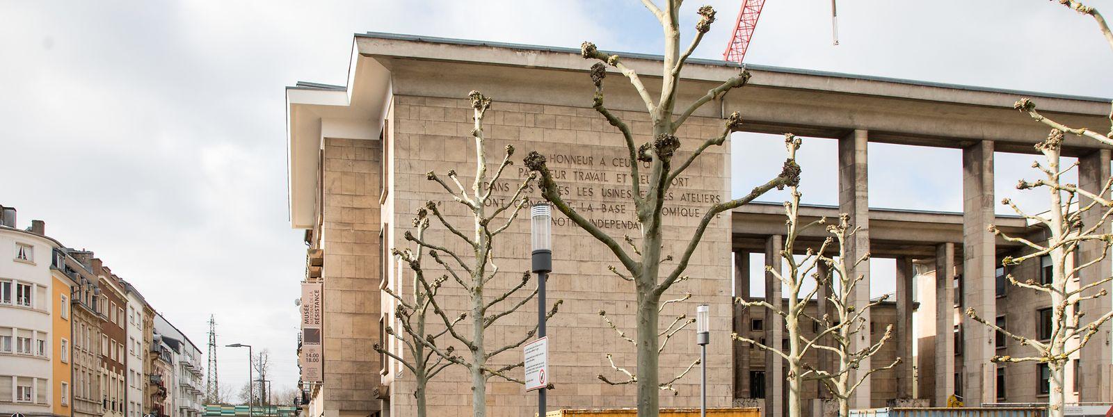 Bei Bauarbeiten am Resistenz-Museum wurden Knochen gefunden.