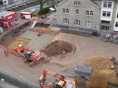 Seit Kurzem laufen die ersten Infrastrukturarbeiten (u.a. für ein Regenrückhaltebecken) zum Bau der neuen Brauerei.