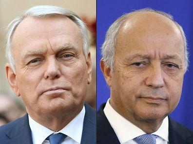 Jean-Marc Ayrault (à g.) succède à Laurent Fabius au poste de ministre des Affaires étrangères.