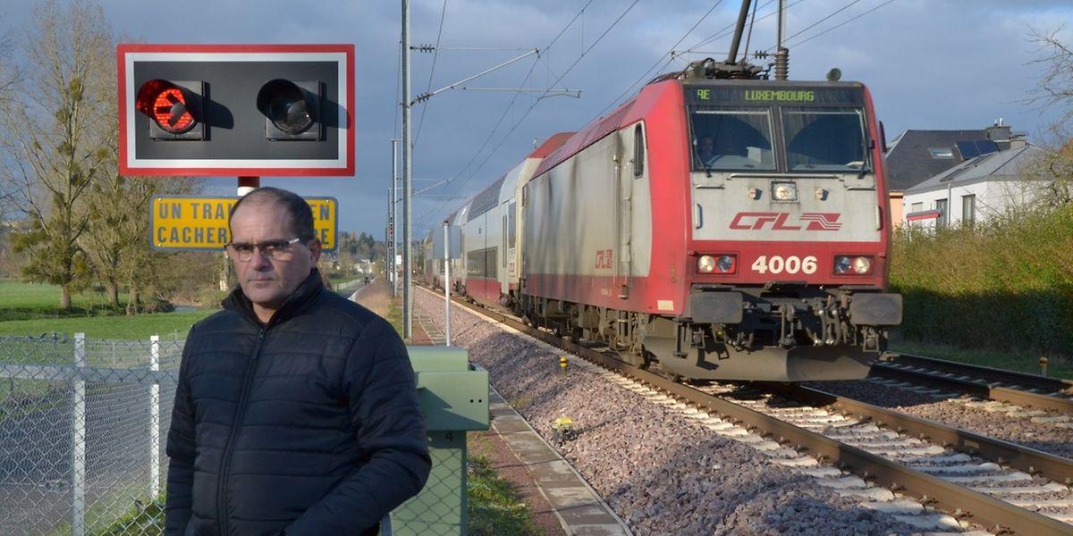 An diesem Bahnübergang hat sich José Domingos Patrocinio in Lebensgefahr gebracht, um eine Frau vor dem Tod zu retten.