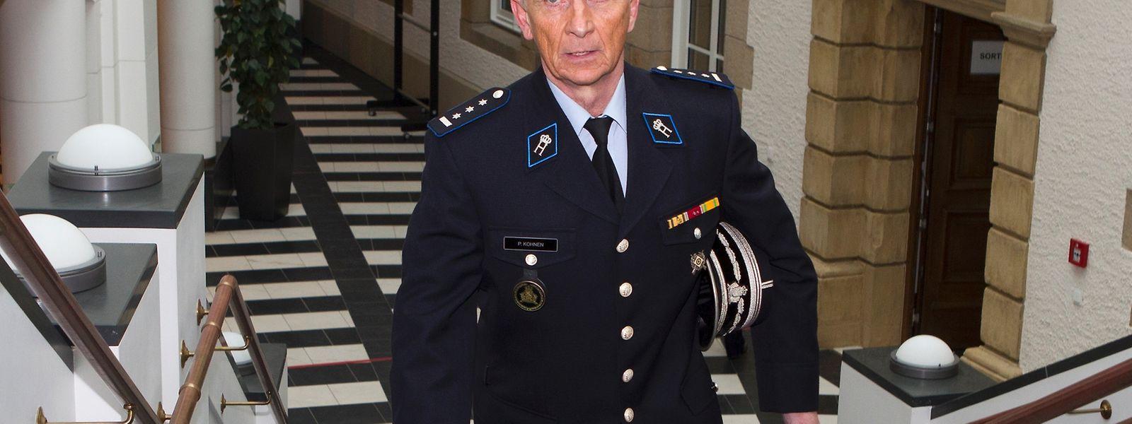 Pierre Kohnen im Februar 2014 vor seiner Zeugenaussage im Rahmen des Bommeleeër-Prozesses.