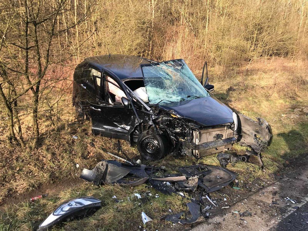 Auf der N32 kam es zu einem Verkehrsunfall mit zwei leicht Verletzten.