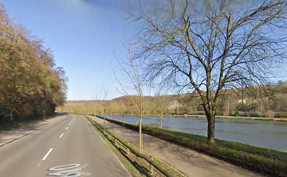Die N10 zwischen Stadtbredimus und Remich.