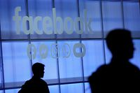 SAN JOSE, CALIFORNIA - APRIL 30: The Facebook logo is displayed during the F8 Facebook Developers conference on April 30, 2019 in San Jose, California. Facebook CEO Mark Zuckerberg delivered the opening keynote to the FB Developer conference that runs through May 1.   Justin Sullivan/Getty Images/AFP == FOR NEWSPAPERS, INTERNET, TELCOS & TELEVISION USE ONLY ==