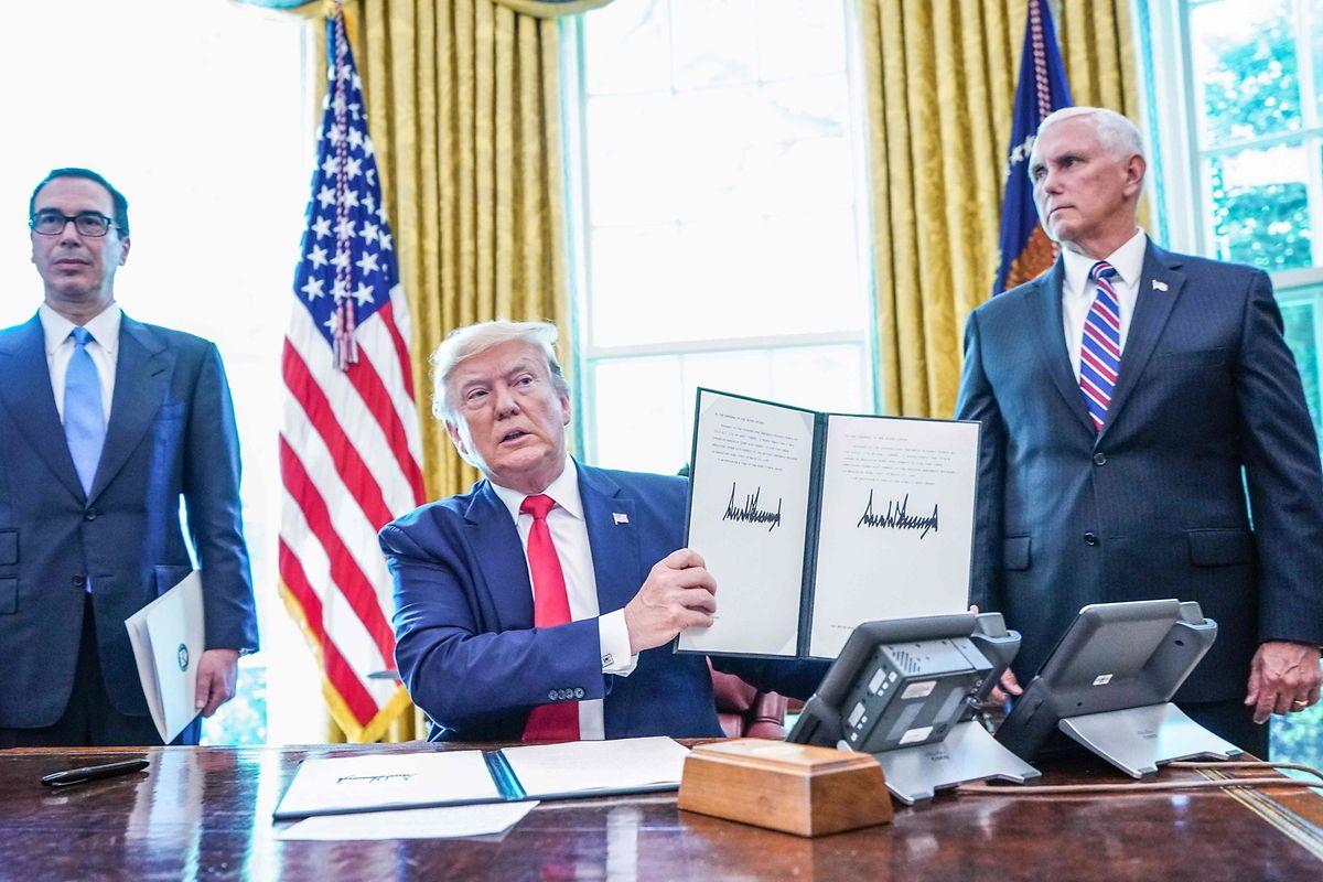Trump unterzeichnete am Montag mehrere Sanktionen gegen den Iran.
