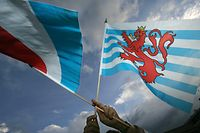 04.10.06 drapeau national luxembourg, proposition de michel wolter, photo: Marc Wilwert