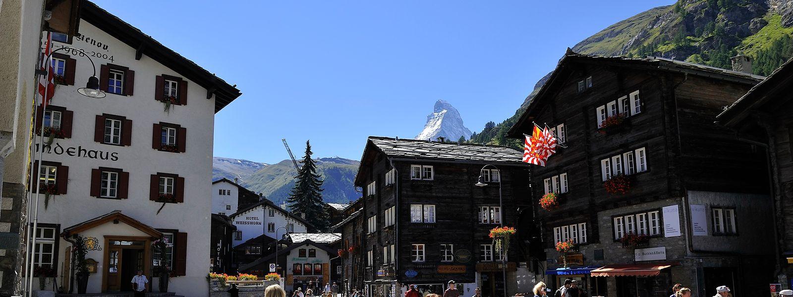 In Zermatt wurden Autos bereits vor Jahren aus dem Ortskern verbannt.