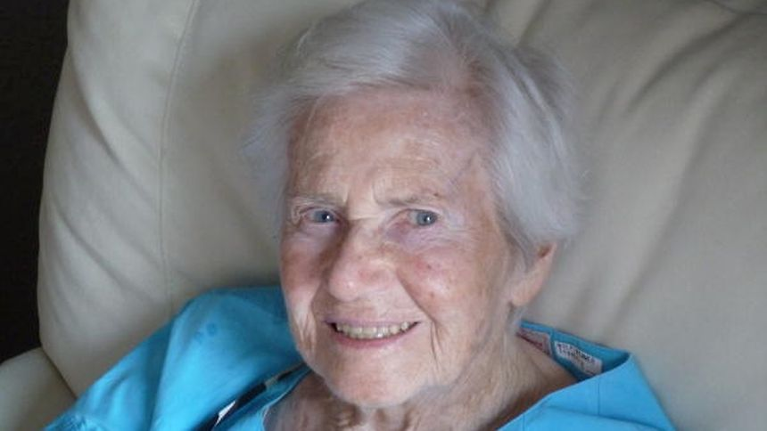 Ingeborg Wolf-Wimmer, pictured, was 92 when she received her first wisdom tooth