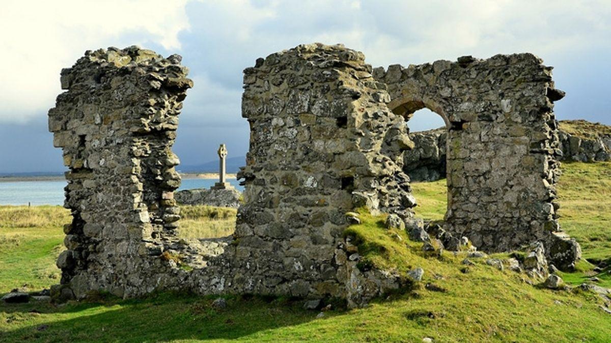 Llanddwyn Island à Anglesey, là où Sainte Dwynwen aurait vécu