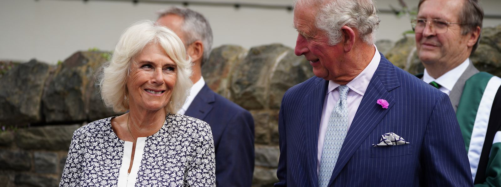 Die Herzogin von Cornwall und Prinz Charles bei einem Besuch Anfang Juli in Wales.