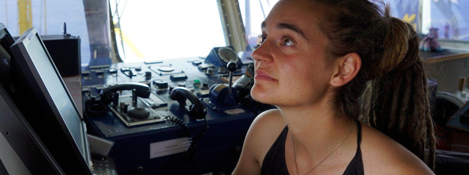 Carola Rackete aus Kiel, deutsche Kapitänin der «Sea-Watch 3», aufgenommen an Bord des Rettungschiffs.