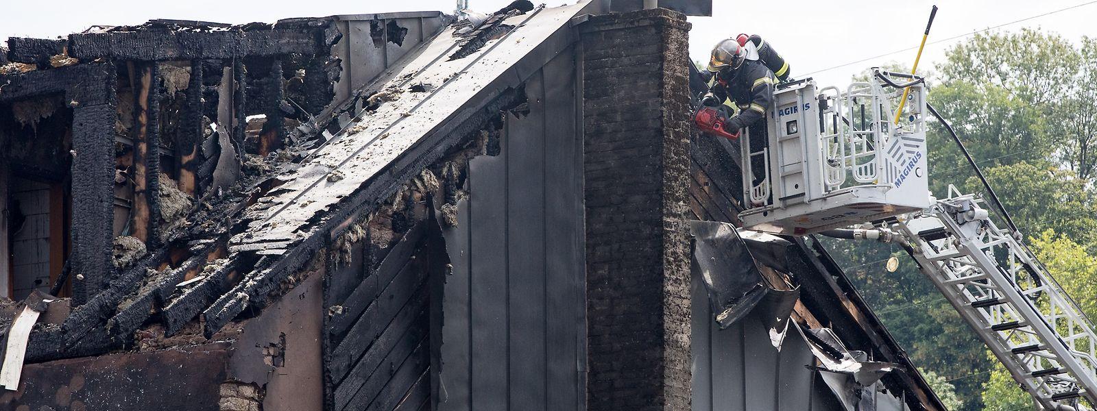 Zwei Gebäudekomplexe wurden Opfer des Brandes in Esch/Alzette.