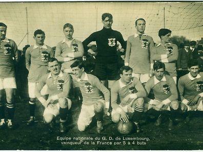 Diese Luxemburger Nationalmannschaft siegte 1914 gegen Frankreich.