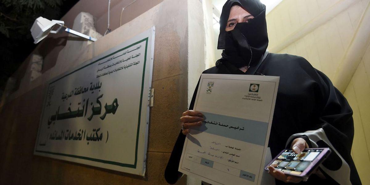 Aljazi al-Hussaini, candidate aux élections municipales de Diriyah, dans la périphérie de la capitale Ryad.