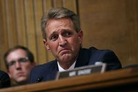 Senate Judiciary Committee member Sen. Jeff Flake (R-AZ) questions Judge Brett Kavanaugh during his Supreme Court confirmation hearing in the Dirksen Senate Office Building on Capitol Hill in Washington, DC. on September 27, 2018. (Photo by Win McNamee / POOL / Getty Images)