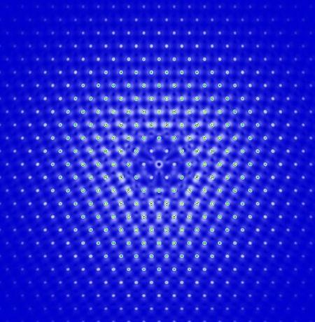 Elektronische Anregung in Molybdändisulfid, einem neuartigen zweidimensionalen Material.