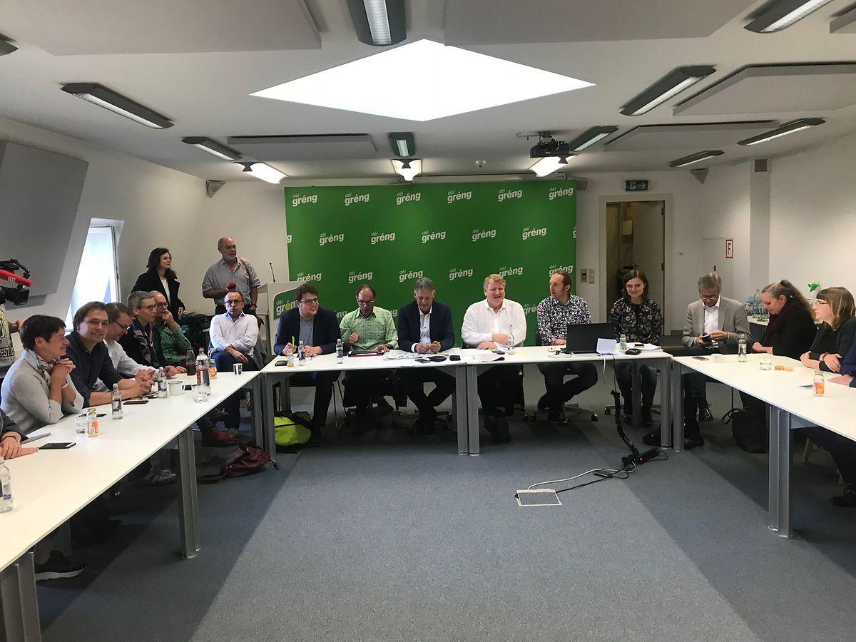 Les Verts réunis en comité exécutif