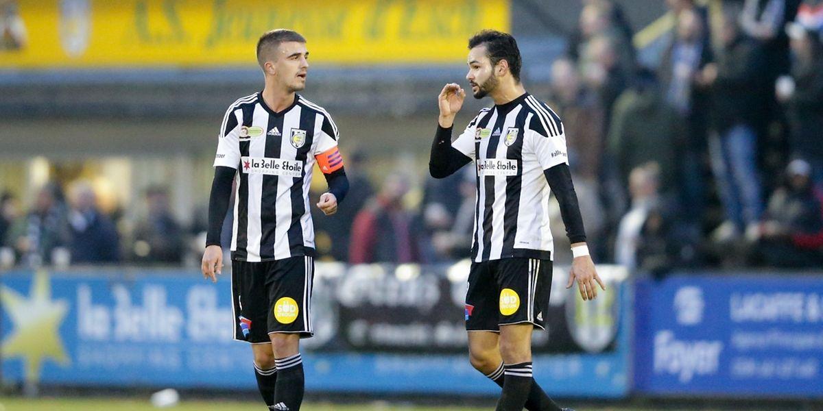 Milos Todorovic et Antonio Luisi en pleine conversation. Les Eschois n'ont pas trouvé la solution contre Differdange.