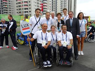 The Luxembourg delegation at the 2016 Paralympics in Rio