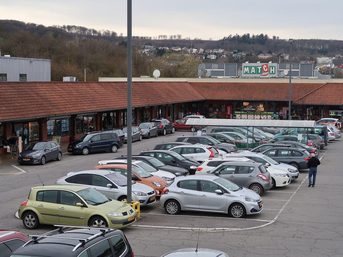 Le centre commercial Les Arcades à Niederanven