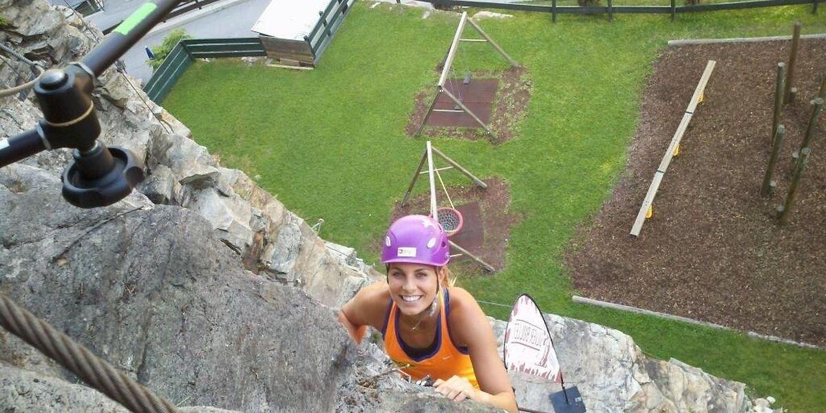 Mandy Minella ist auch neben dem Tennisplatz gerne sportlich aktiv.