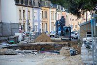 WO fr , Chantiers Ville de Luxembourg , Neudorf  , Foto: Guy Jallay/Luxemburger Wort