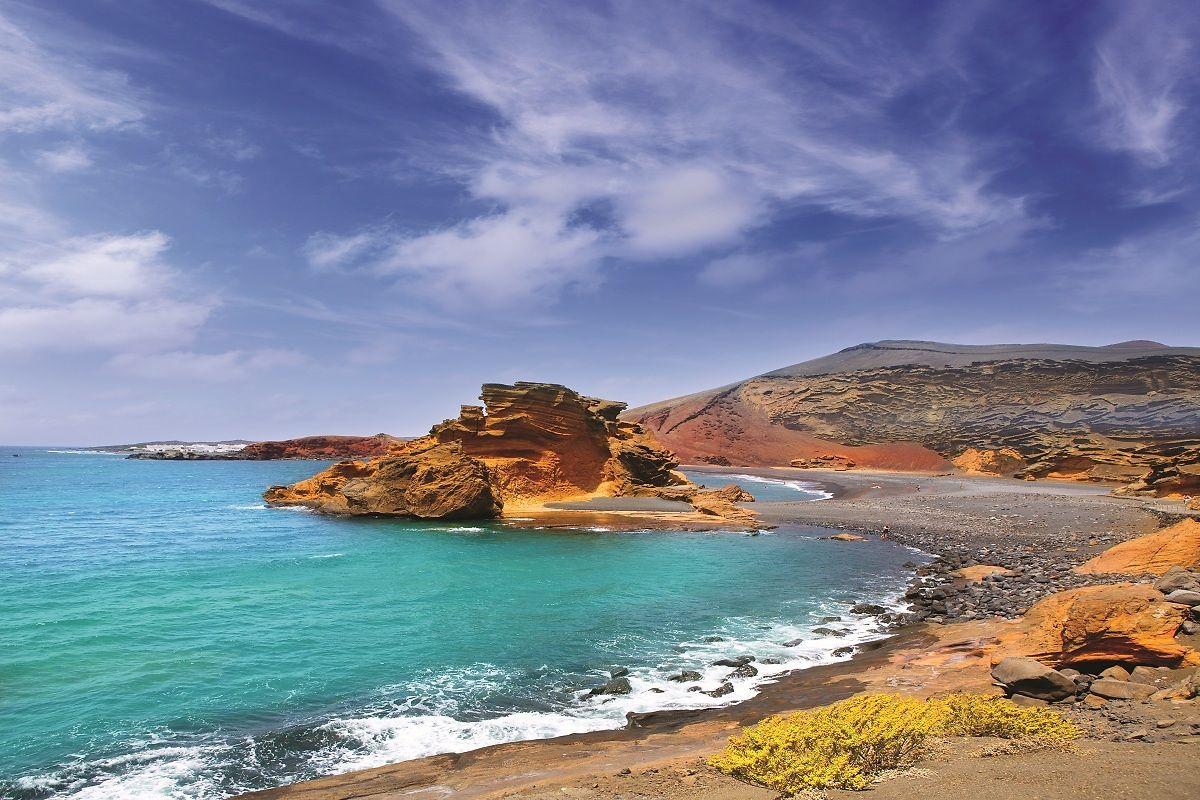 Eine Bucht auf Lanzarote