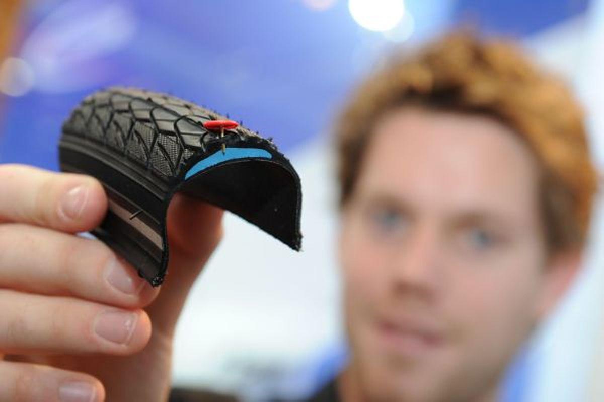 Den besten Schutz vor einem Platten bieten Reifen mit zusätzlich eingearbeitetem Gewebe.