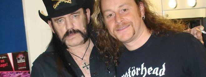 Lemmy Kilmister (l.) und sein Fan Luc Belleville.