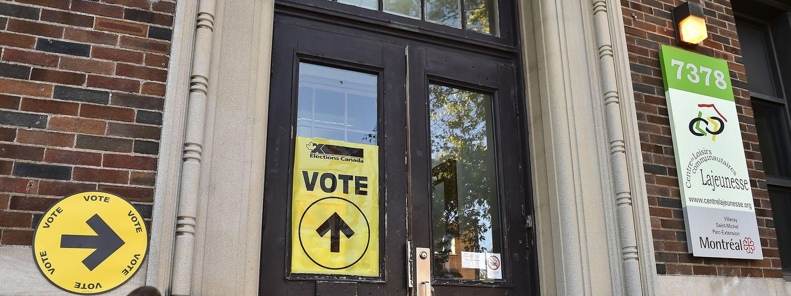 Eine Wahlstation in Montreal, Canada.