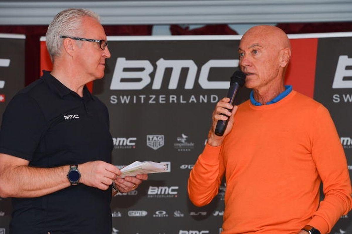 Marc Biver im Gespräch mit Georges Lüchinger, Pressechef beim Team BMC.