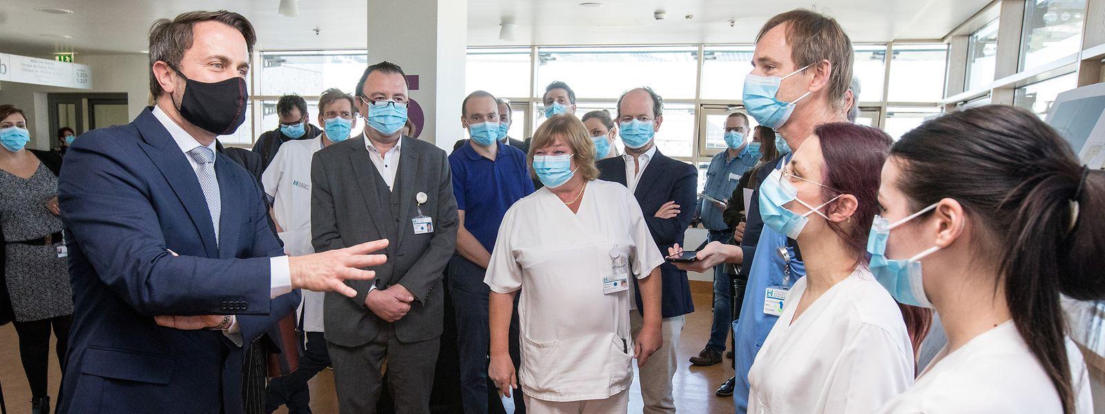 Si, comme ici à l'hôpital Kirchberg, le Premier ministre a souvent eu l'occasion de saluer le rôle des infirmières, Xavier Bettel devrait maintenant écouter leurs doléances