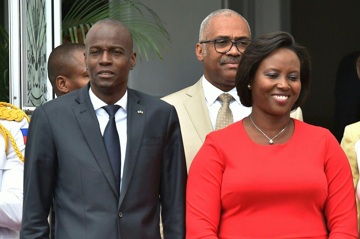 Präsident Jovenel Moise mit der First Lady Martine Moise im Mai 2018.