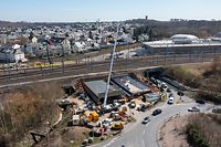 chantier tunnel Rangwee - Luxembourg - Ville -  - 29/03/2021 - photo: claude piscitelli