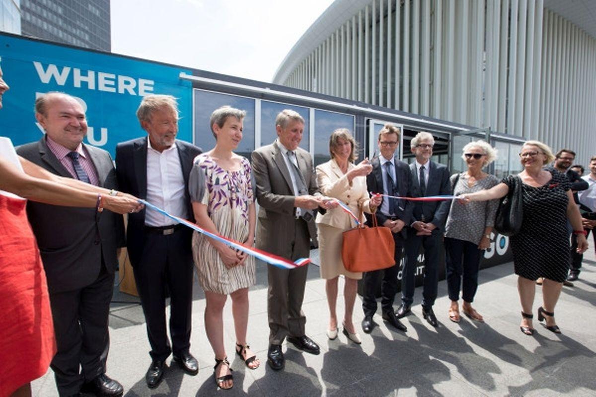 Le Visiting center a été inauguré ce mardi au Kirchberg.