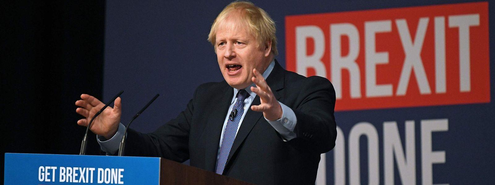 Le Premier ministre a martelé son projet de réaliser le Brexit au plus vite, dimanche.